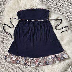 (🌸2/$25🌸) Navy blue Strapless summer dress